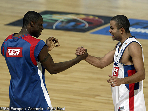 Mickael Pietrus and Tony Parker